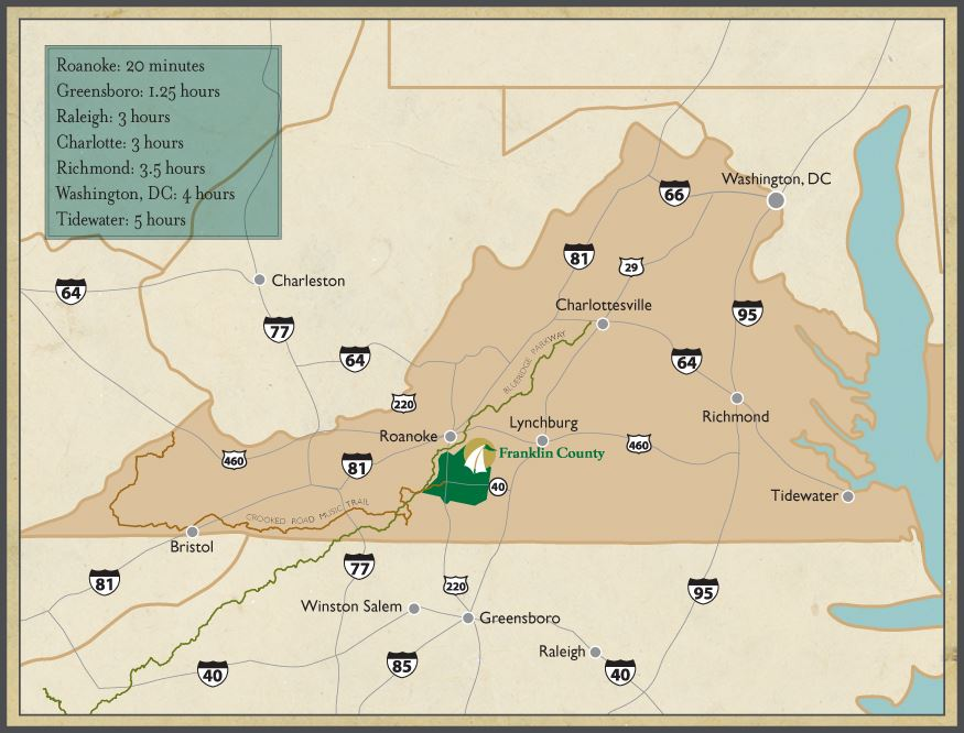Regional Map of Franklin County